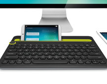 Logitech Bluetooth keyboard dock lets you easily switch from tablet, to smartphone to PC
