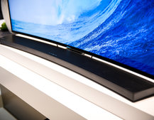 Samsung Curved Soundbar HW-H7500 matches curved TVs but does it match the wall? (hands-on)