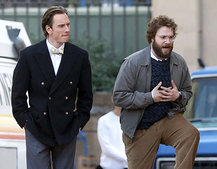 Steve Jobs biopic: Here are the first shots of Michael Fassbender as Jobs and Seth Rogen as Woz