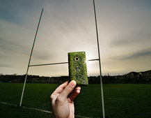Rugby fan? This phone is made of grass from the Twickenham Stadium