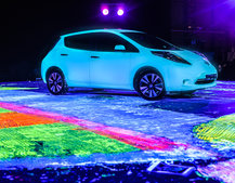 Nissan Make A Glowing Contribution To The Art World With the New Nissan LEAF