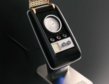 This is a real-life Star Trek Communicator that actually works as a Bluetooth handset