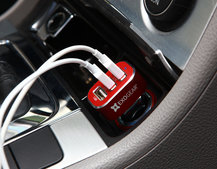 Save 25 per cent on the three-port USB car charger from Exocharge