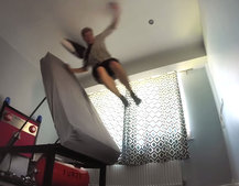 Well, this is one way to get up in the morning: High Voltage ejector bed