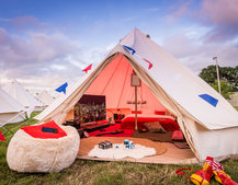 Is this the best festival tent ever? We check out Virgin Media's V Festival tech glamping experience