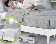 Nuyu Sleep System heats and cool with your body for the perfect night's kip