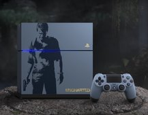 Sony is launching this slick grey-blue PS4 as an Uncharted 4 bundle in April