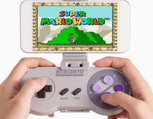 The classic SNES Controller gets an upgrade: The Bluetooth SNES30 and smartphone holder