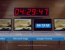 This Microsoft video shows what Chrome does to a laptop battery