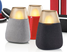 LG has the cutest Bluetooth speaker that looks like a candle with built-in mood lighting