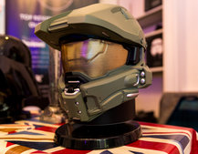 Halo Master Chief and Darth Vader Bluetooth speakers in the flesh, both on pre-order now
