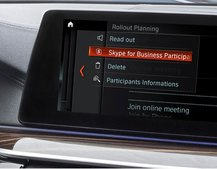 Own a BMW? You can join a Skype meeting without leaving your car