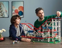 This roller coaster is one of the biggest Lego sets ever - and it can even be powered