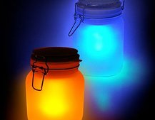 Sun and Moon solar powered jars