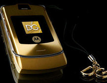 Motorola and Dolce and Gabbana unveil new gold and silver  MOTORAZR V3i