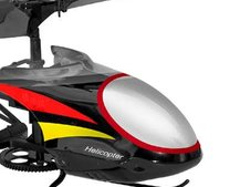 Tiny remote control helicopter launches