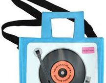 Retro record iPod Tote has speakers