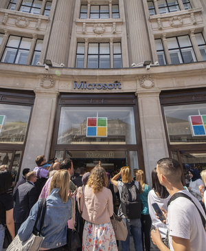 Inside Microsoft's new flagship London store