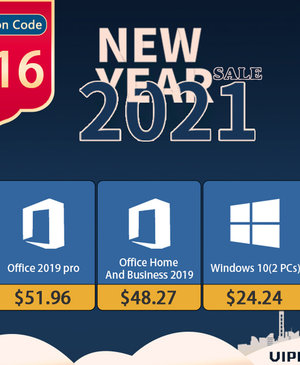 VIPKeySale New Year Sale: Permanent Original Windows 10 Pro OEM key for $15 and Office 2019 for $50