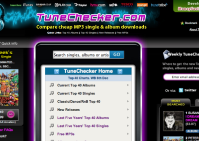 TuneChecker helps you find the cheapest music online