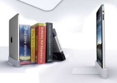 iPad turned into bookend