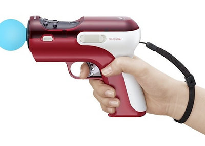 Sony PS3 PlayStation Move ray gun pictured
