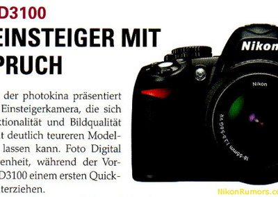 Nikon D3100 leaks into focus