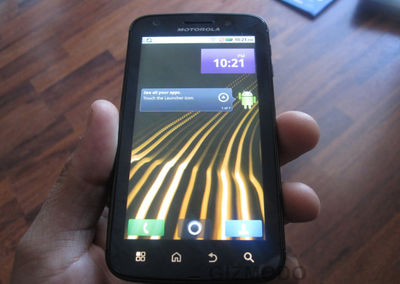 Motorola Olympus Tegra 2 Android handset snapped again