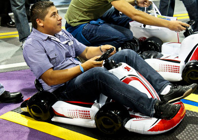 CTA Digital Inflatable Kart makes Mario Kart Wii more fun... Or just hot air?