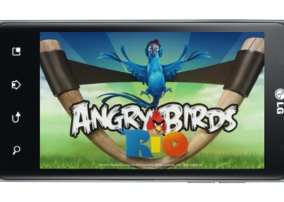 LG Optimus range catches Angry Birds Rio fever