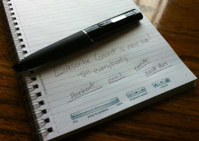 Livescribe Connect makes your notes and recordings social