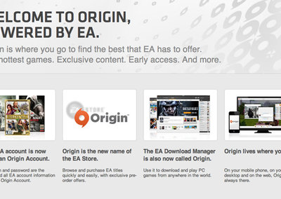 EA announces cross platform mobile and PC connectivity for Origin network