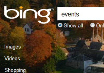 Bing Events helps you plan your social life