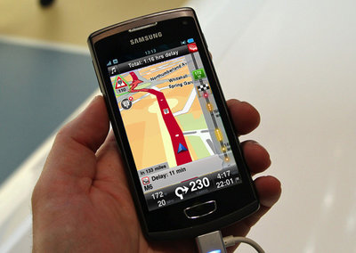 TomTom maps give the Samsung Wave 3 direction