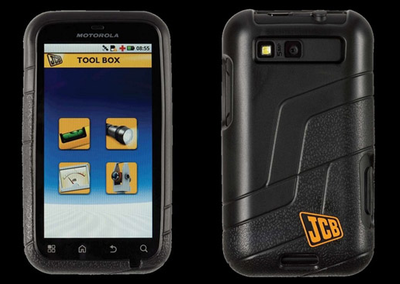 JCB limited edition Motorola Defy+ digs in