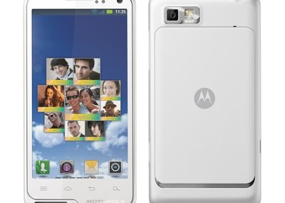 White Motorola Motoluxe exclusive to Tesco shopping fashionistas