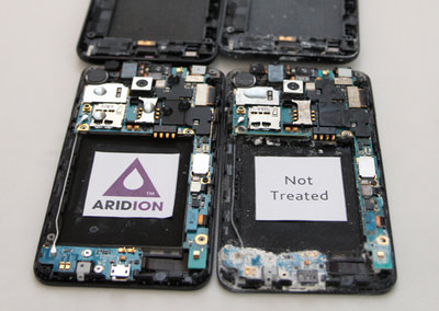 Your next phone is likely to be water repellent, thanks to P2i Aridion