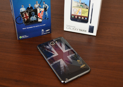Samsung Galaxy Note and Galaxy Y available with Team GB back covers at O2