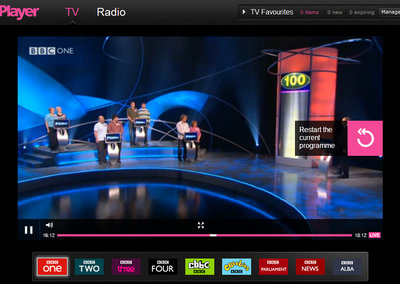 BBC iPlayer gets live TV rewind function