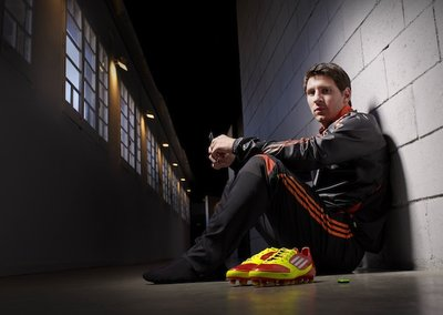 Adidas monitors Lionel Messi's performance through his adidas F50 miCoach boot