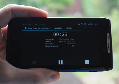 APP OF THE DAY: Easy Voice Recorder Free (Android)
