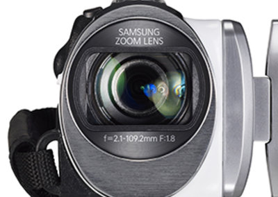 Samsung HMX-F90 5-megapixel camcorder, a bit of all-white