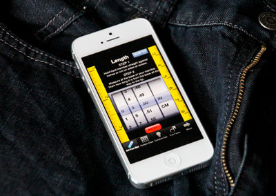 Condom Size for iPhone provides measuring tools for, ahem, tools