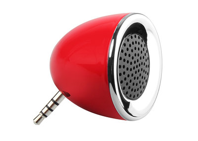 Brando offers tiny powered mobile phone speaker you pop in the headphone socket