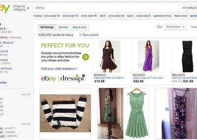 eBay trials fashion personalisation tech, get suggestions based on style and size