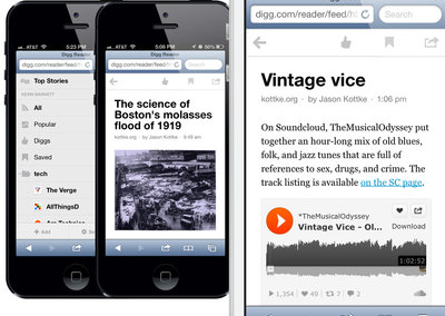 Digg: iOS app updated with unread setting, Android app coming soon