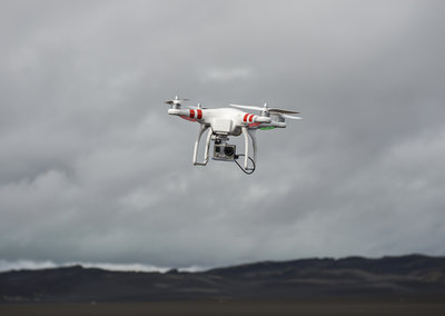 Into 'Oblivion': DJI Phantom drone test flight over Iceland's black sand desert