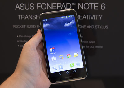 Asus PhonePad Note 6 hands-on: Bigger-than Galaxy Note, less aspirational feature set
