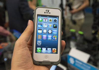 LifeProof Nuud iPhone case: glass screen remains exposed for an au naturel hands-on experience