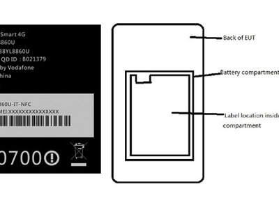 Vodafone Smart 4G phone for the UK exposed in US FCC filing